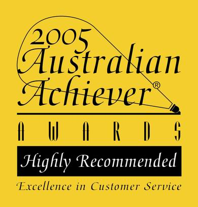 Instant Laser Clinic 2005 Australian Achiever Award.
