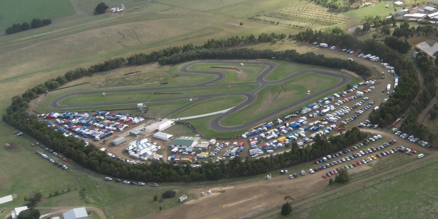 Photo of South West Track during the Victorian Open Sprint Kart Championships 2007