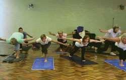 U3A Pilates ladies getting all worked up!