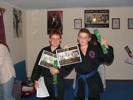 Billy & Jake Green Belt Grading 2008