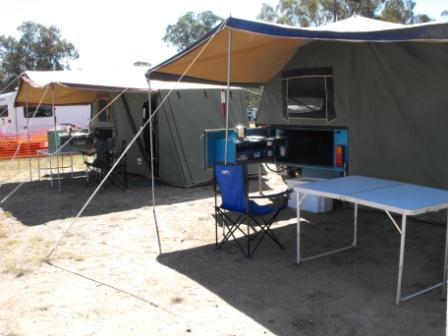 Sar Major Trailers set up at Rock the Mount at Melrose Showgrounds -April 2010