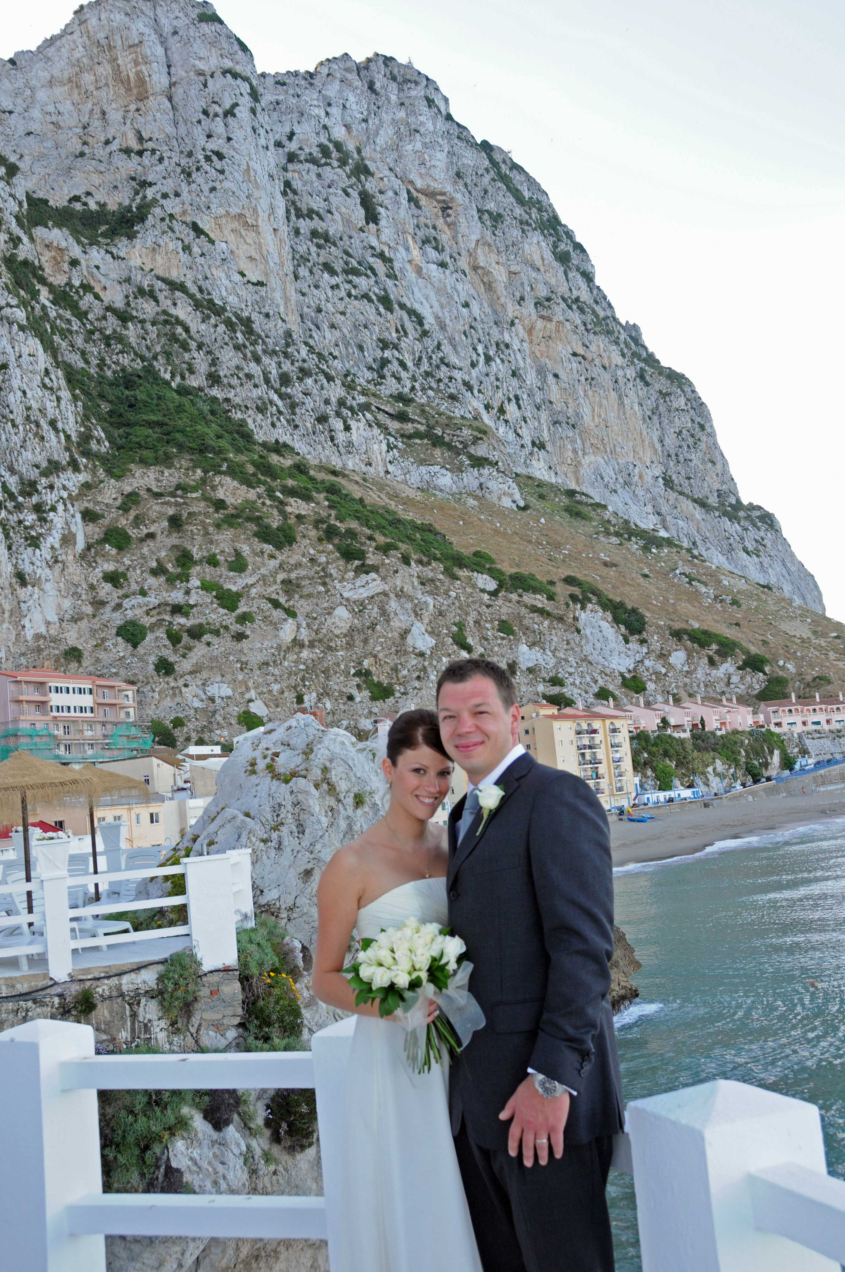 Wedding in Gibraltar, near Spain