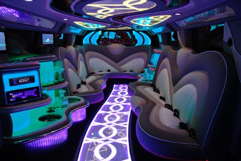 Showtime Limousines Perth H2 Hummer Interior 2008