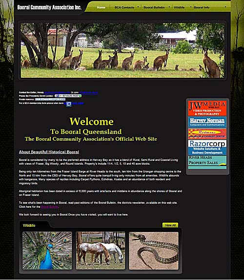Home Page of www.booral.org.au