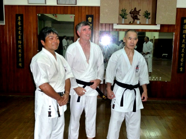 At the Jundokan with Taira Sensei