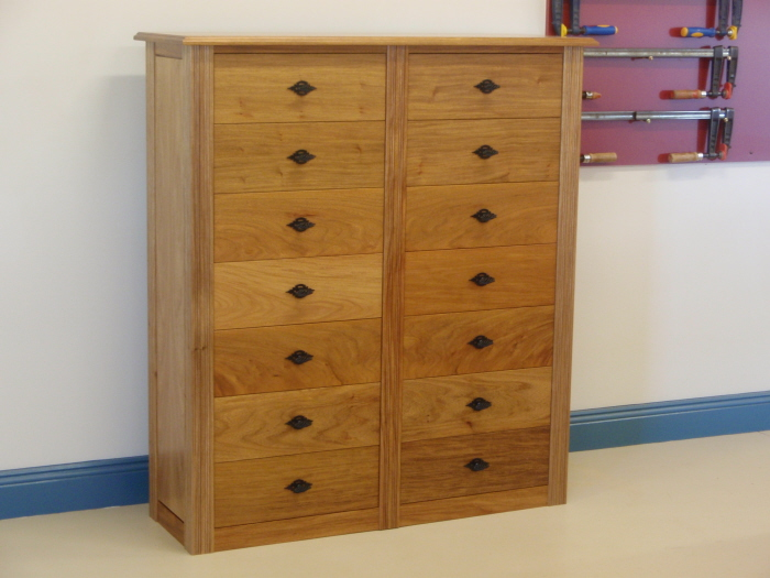 this cabinet was made in New Guinea Rosewood to store 800 CDs