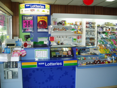 Front counter fitout at Narromine Newsagency