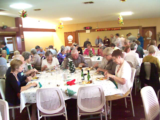 Members enjoying their 2010 Christmas lunch