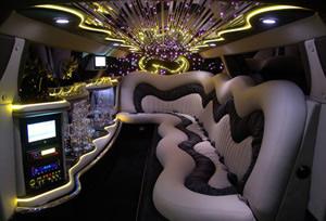 Showtime Perth Limousines Chrysler interior