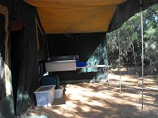 Camel Camper Trailer with Awning + Kitchen